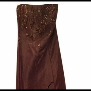 Copper Long Formal Dress